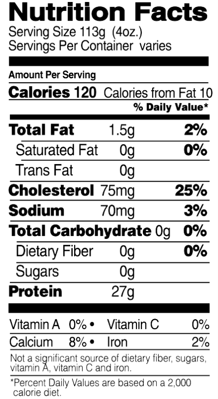Boneless, Skinless Breasts Nutrition Facts