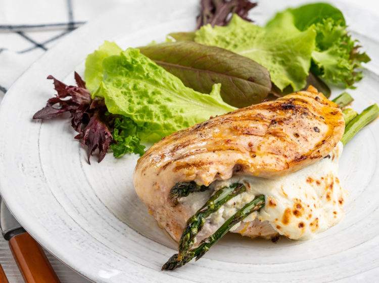 Asparagus-Stuffed Grilled Chicken Breast