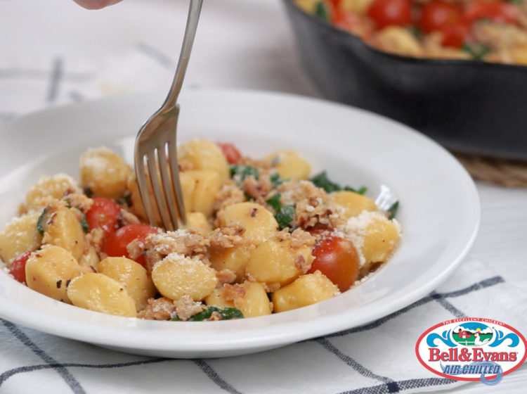 Chicken Bacon Cheddar Gnocchi Skillet