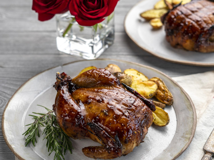 Fig & Rosemary Sticky Glazed Cornish Hens