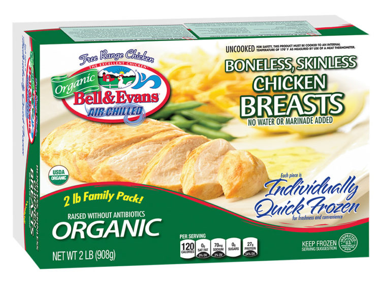 Individually Quick Frozen Organic Chicken Breasts