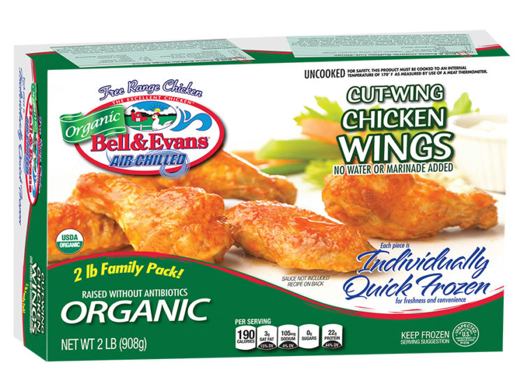 Individually Quick Frozen Organic Cut Wings