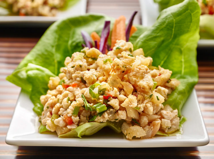 Chicken Lettuce Wraps with Ground Chicken