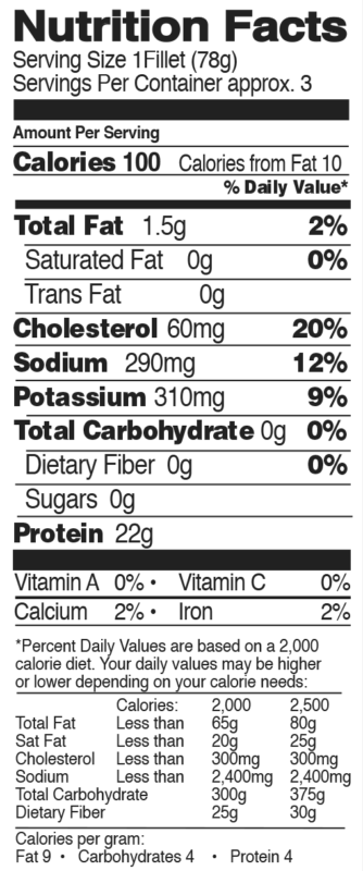 Fully Cooked Grilled Organic Chicken Breasts Nutrition Facts