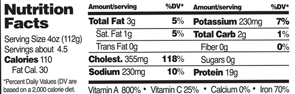 Organic Chicken Livers Nutrition Facts