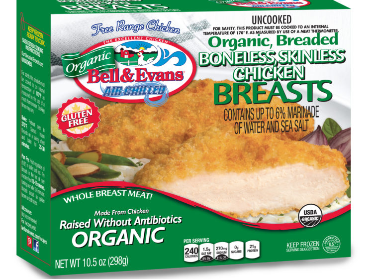 Organic Breaded Boneless Skinless Chicken Breasts