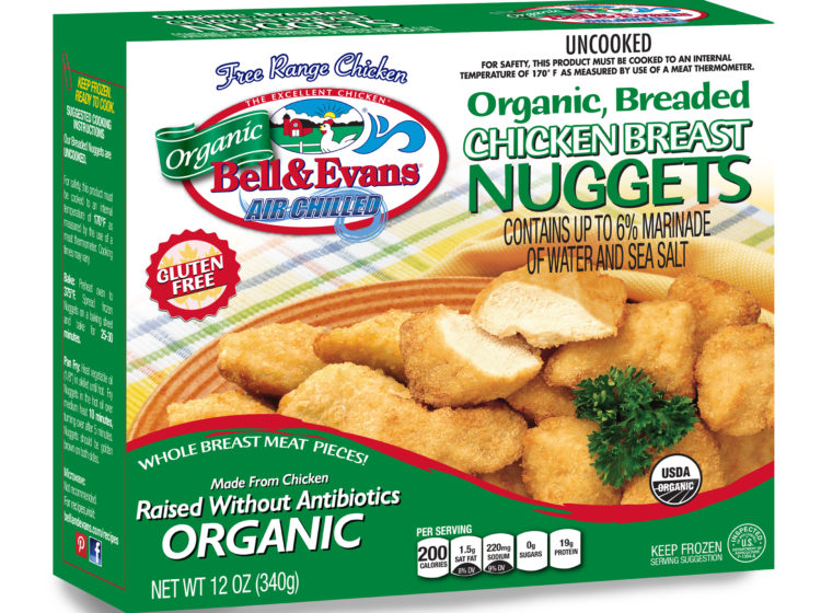 Organic Breaded Chicken Nuggets Bell Evans