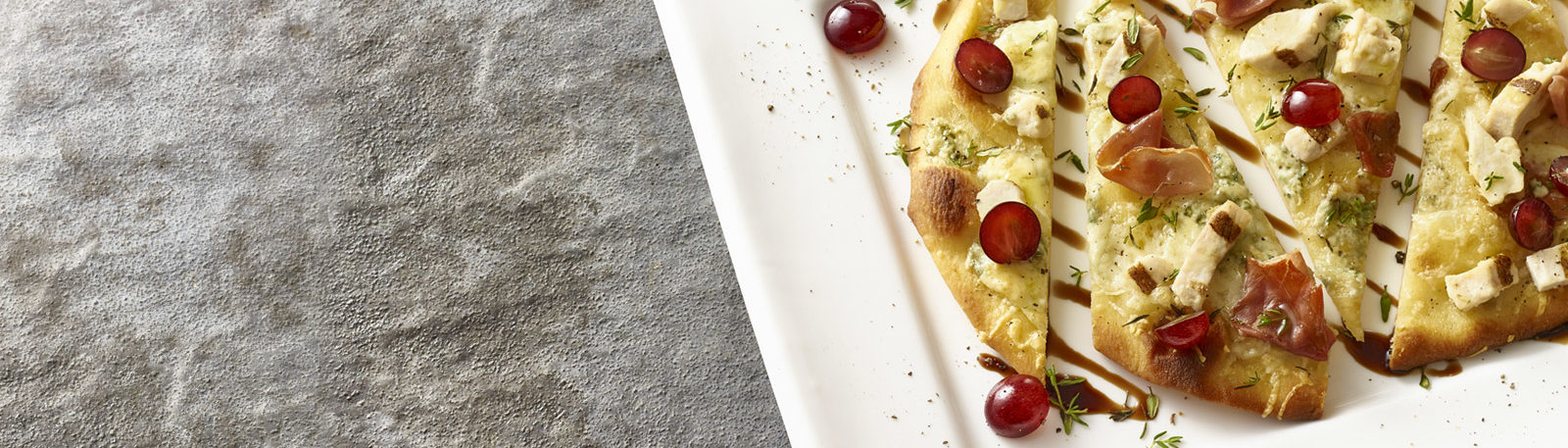 Chicken and Grape Crispy Flatbread