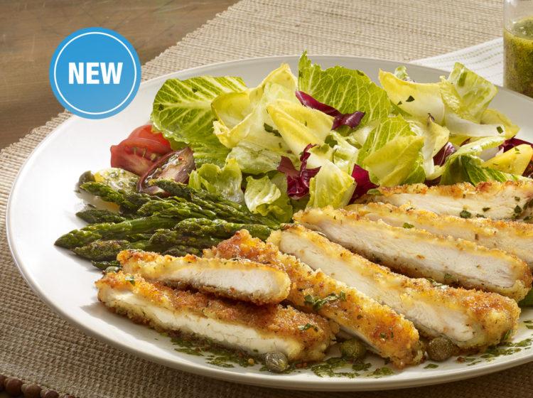 Chicken Scallopini Salad With Lemon Parsley Vinaigrette Bell Evans