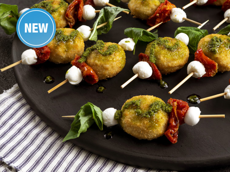 Caprese Pesto Chicken Bites