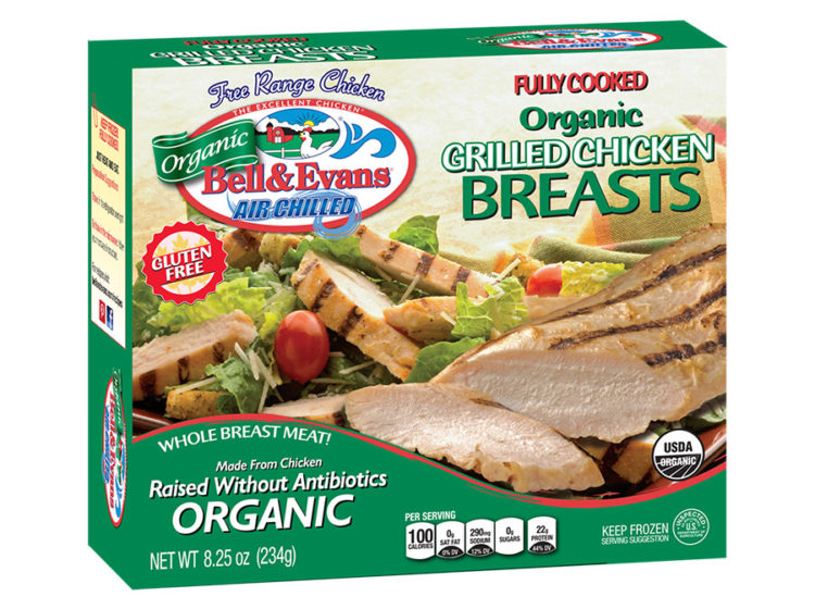 Fully Cooked Grilled Organic Chicken Breasts