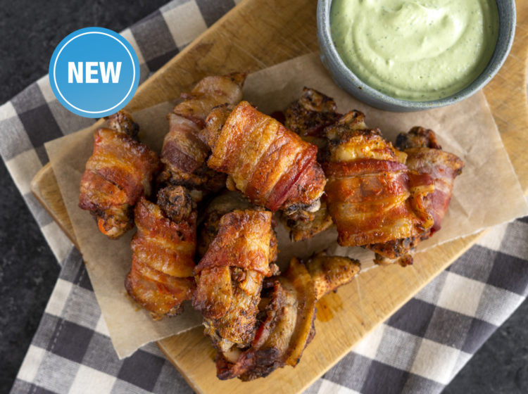 Keto Bacon-wrapped Chicken Wings