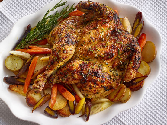 Citrus Honey & Rosemary Roasted Spatchcock Chicken